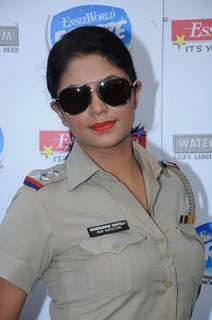 Kavita Kaushik on the set of SAB TV popular show FIR