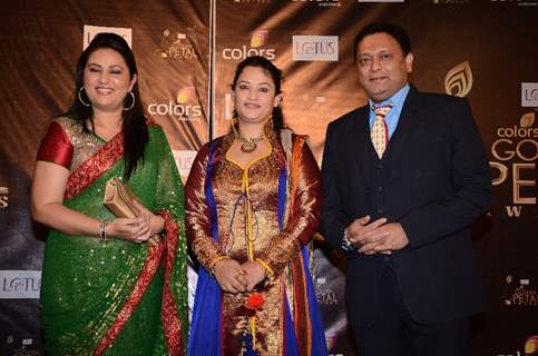 Neelu Kohli, Rinku Karmarkar and Kiran Karmarkar at Colors Golden Petal Awards Red Carpet Moments