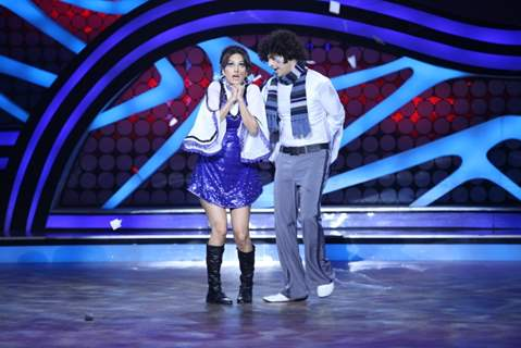 Karan Mehra and Nisha Rawal during their performance on Nach Baliye 5