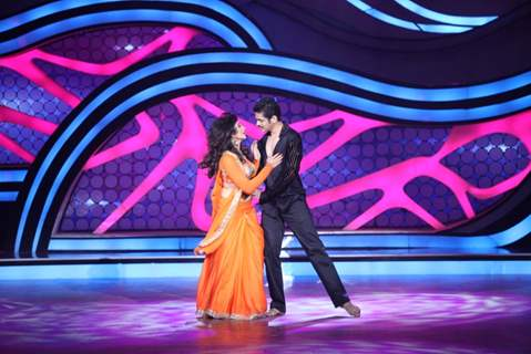 Suhasi Dhami and Jaysheel Dhami during their performance on Nach Baliye 5