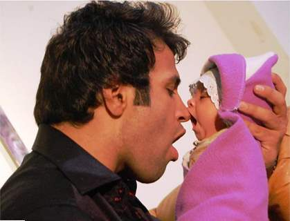 Rithvik and little Zoya
