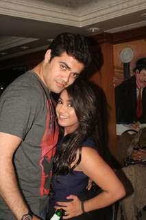 Chandni Bhagwanani and Nishad Vaidya at Amita Ka Amit hundred episodes party