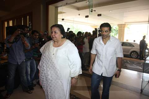 Uday Chopra with mother Pamela attend condolence meet of Priyanka Chopra's father Ashok Chopra