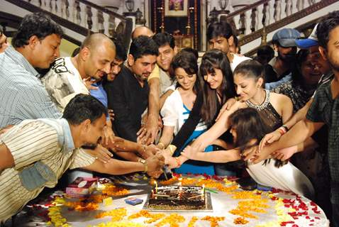 Amrit Manthan cake cutting, the last day of the shoot