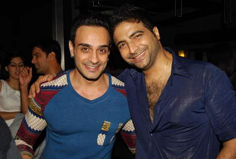 Angad Hasija with Nikhil Arya at Producer Rajan Shahi's Bash