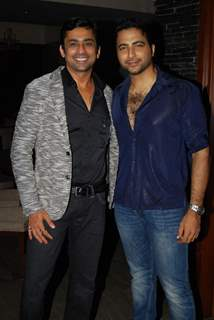 Anuj Saxena and Nikhil Arya at Producer Rajan Shahi's Bash