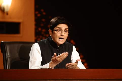 Kiran Bedi in the show Aap Ki Kachehri