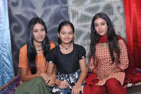 A still image of Shamoli, Kakon and Kanchan