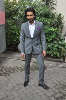 Deepika Padukone and Ranveer Singh at Mehboob Studio for Ram Leela Movie Promotions