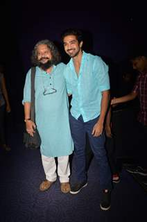 Amole Gupte and Saqib Saleem at the Hawaa Hawaai screening visit