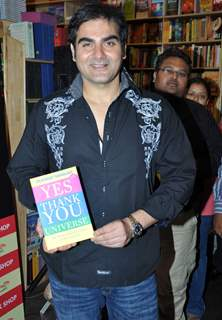 Arbaaz Khan launches Vickrant Mahajan's book Yes Thank You Universe