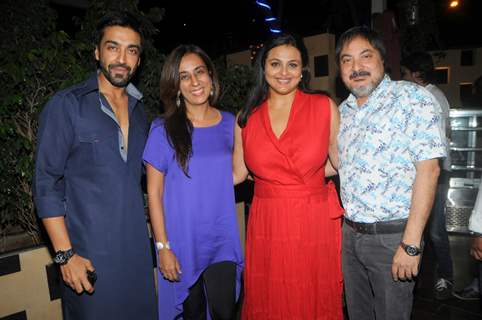 Ashish Chaudhary with Deeya Sing, Shilpa Shorodkar and Tony Singh at the party