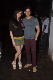 Hussain with wife Tina at the Screening of Lai Bhari