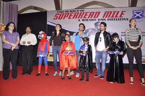 Nakuul Mehta addresses the crowd at Superhero Mill Event