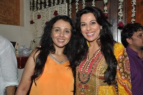 Pooja Bedi and Suchitra Krishnamurthy at Javed Jaffrey's Rocking EID Bash