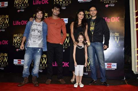 The cast of Laut Aao Trisha at Life Ok Now Awards