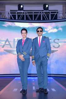 Tulip Joshi and Yudhistir at the launch of Airlines - Har Udaan Ek Toofan