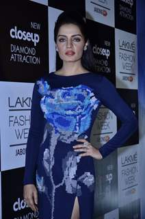 Celina Jaitly was at the Lakme Fashion Week Winter/ Festive 2014 Day 6