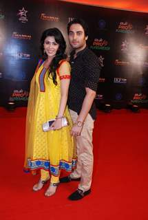 Sheetal Dabholkar with Ankit Modgil at the Grand Finale of Pro Kabbadi League
