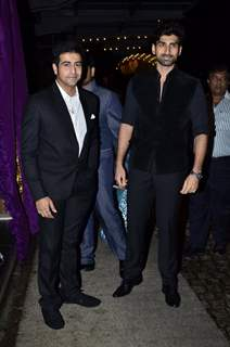 Dishank Arora and Akshay Dogra at Nikitan Dheer and Kratika Sengar's Wedding Reception