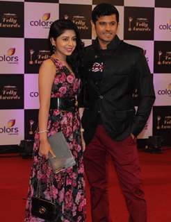 Neha Sargam and Neil Bhatt were seen at the Indian Telly Awards
