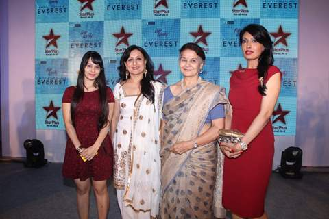 Cast of Everest poses for the media at the Launch