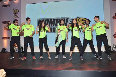 Team Mumbai Warriors perform at the BCL Press Conference