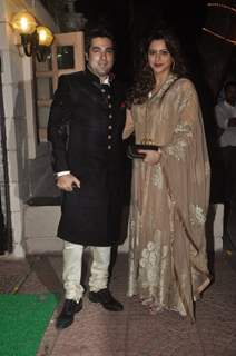 Aamna Shariff with her husband was seen at Ekta Kapoor's Diwali Party