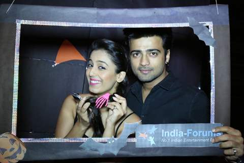 Manish Naggdev and Srishty Rode pose for the media at India Forums Halloween Bash