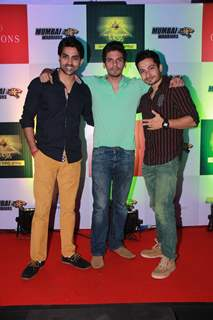 Adhvik Mahajan, Vipul Gupta and Kunal Pant at the Launch of BCL Team Mumbai Warriors