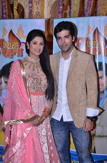 Kinshuk Mahajan and Shefali Sharma pose for the media at the Launch of Tum Aise Hi Rehna