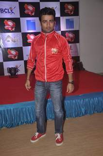 Manish Naggdev poses for the media at the Jersey Launch of BCL Team Jaipur Raj Joshiley