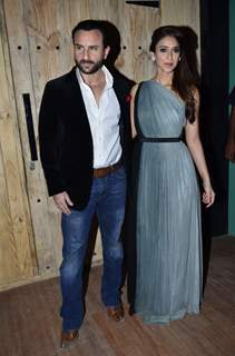 Saif Ali Khan poses with Ileana D'Cruz at the Promotions of Happy Ending on Ajeeb Dastaan Hai Ye