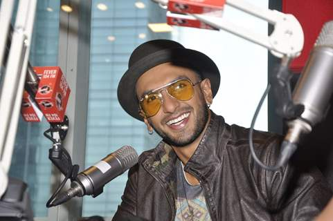 Ranveer Singh interacts with the listeners at the Promotions of Kill Dil at Fever FM