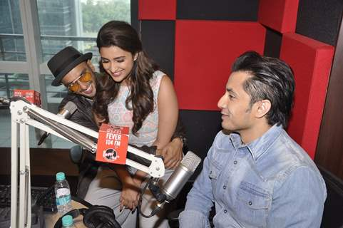 Team Kill Dil enjoy their time during the Promotions at Fever FM