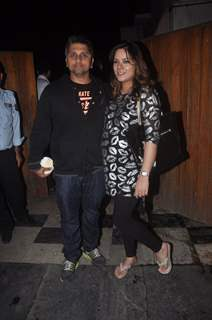 Mohit Suri and Udita Goswami pose for the media at Shaad Randhawa's Party