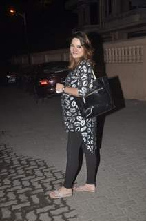 Udita Goswami poses for the media at Shaad Randhawa's Party