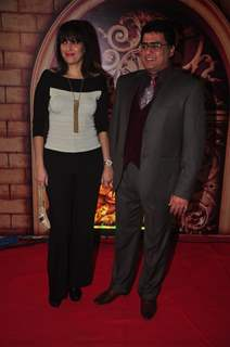 Ayub Khan poses with his wife at Zee Rishtey Awards