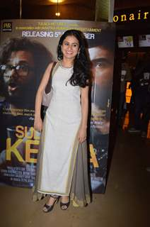 Rasika Duggal poses for the media at the Premier of Sulemani Keeda