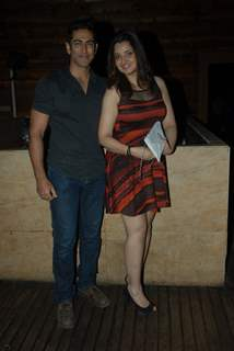 Tarun Khanna with wife Smriti Khanna at Vahbbiz Dorabjee Dsena's Birthday Bash