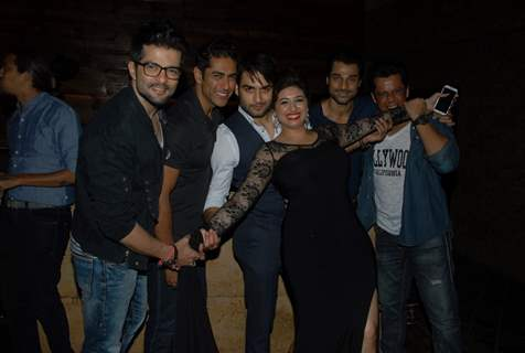 Vahbbiz Dorabjee Dsena poses with her friends at her Birthday Bash