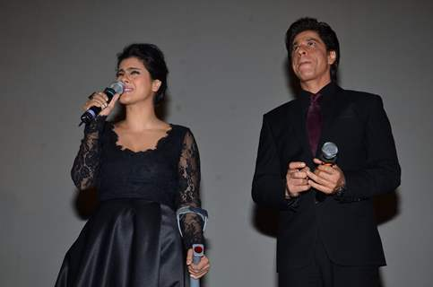 Kajol Devgn interacts with the audience at the Celebration of 1000 Weeks Completion of DDLJ