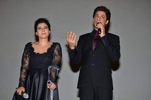 Shah Rukh Khan interacts with the audience at the Celebration of 1000 Weeks Completion of DDLJ