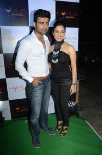 Manish Naggdev and Srishty Rode poses for the media at A Soiree Evening at HYMUS