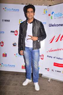 Dishank Arora poses for the camera at India-Forums 11th Anniversary Bash