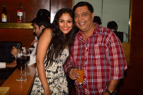 Shruti Bapna poses with Abhay Bhargava at India-Forums 11th Anniversary Bash