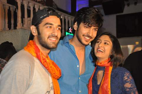 Shivin Narang with Vishal Vashishtha & Farnaz Shetty at the Launch of Million Dollar Girl