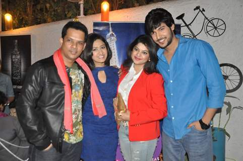 The cast of Veera at the Launch of Million Dollar Girl
