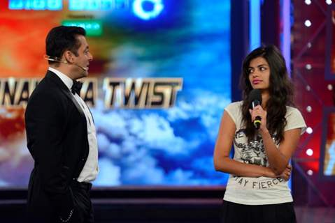 Sonali Raut during her eviction in Bigg Boss 8