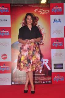 Sonakshi Sinha poses for the media at the Promotions of Tevar